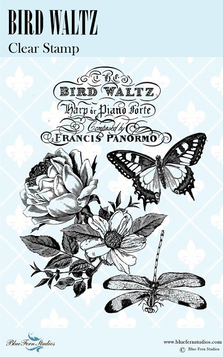 Blue Fern Studios - Bird Waltz Clear Stamp