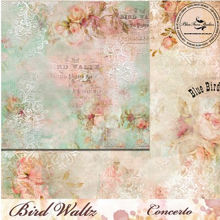 "Blue Fern Studios - Bird Waltz Collection Concerto 12""x12"" Double Sided Cardstock"