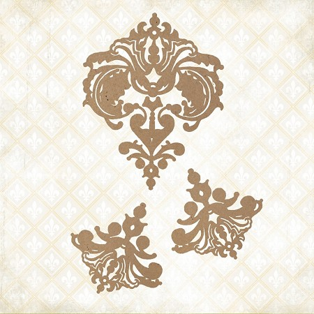 Blue Fern Studios - Fanciful Linen Chipboard