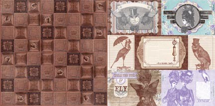 "Bo Bunny - Penny Emporium Collection - Copper Tiles 12""x12"" Cardstock"