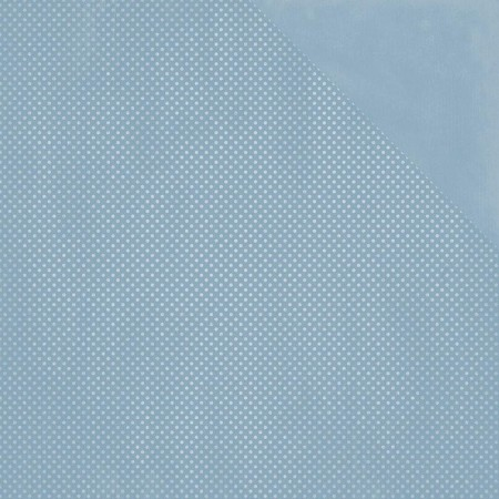 Bo Bunny - Double Dot Cardstock - Country Blue Dot
