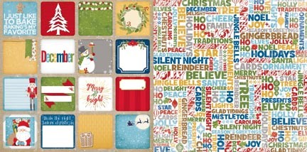 "Bo Bunny - Dear Santa Collection - Dear Santa 12""x12"" cardstock"