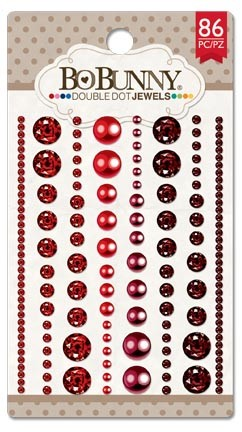 Bo Bunny - Double Dot Ruby Red Jewels