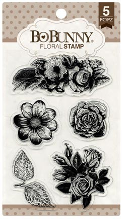 Bo Bunny - Clear Stamps - Floral Stamp