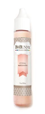 Bo Bunny - Double Dot Pearlescents - Coral Pearlescent :)