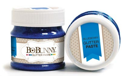 Bo Bunny - Double Dot Glitter Paste - Blueberry Glitter Paste :)