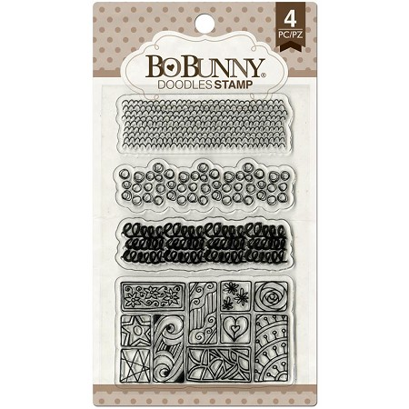 Bo Bunny - Faith Collection - Doodles Clear Stamp