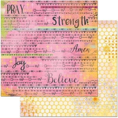"Bo Bunny - Faith Collection - Blessings 12""x12"" cardstock"