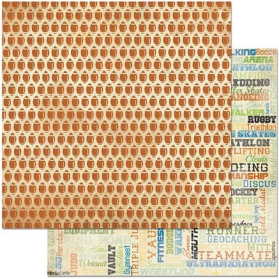 "Bo Bunny - Game On! Collection - Pigskin 12""x12"" cardstock"