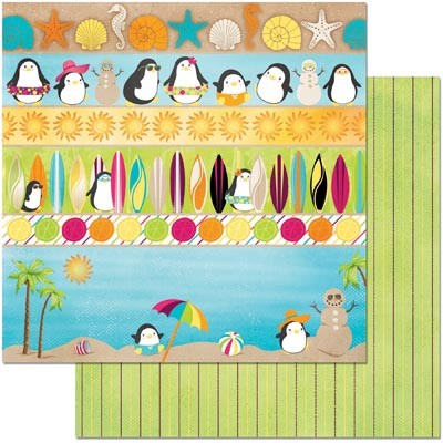 "Bo Bunny - Make A Splash Collection - Make A Splash 12""x12"" cardstock"