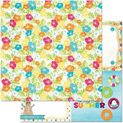 "Bo Bunny - Make A Splash Collection - Smile 12""x12"" cardstock"