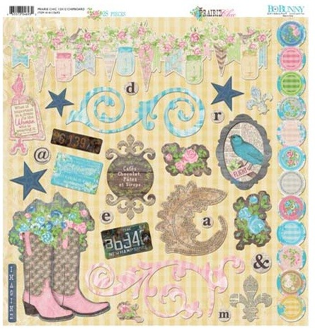 Bo Bunny - Prairie Chic Collection - 12x12 Chipboard :)