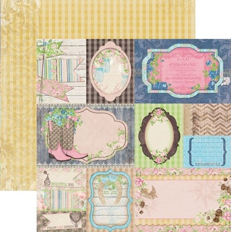 Bo Bunny - Prairie Chic Collection - 12x12 Paper - Flea Market Finds