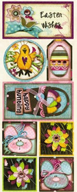 Bo Bunny - Sophie Collection - Easter Wishes Stickers
