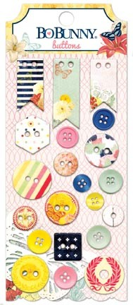 Bo Bunny - Sweet Life Collection - Buttons