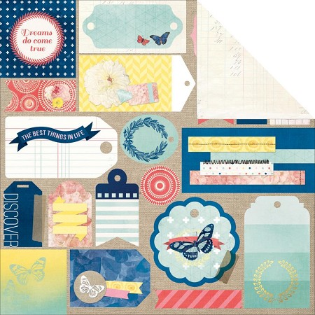 Bo Bunny - Sweet Life Collection - Flutter Paper