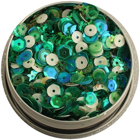 28 Lilac Lane/Buttons Galore - Sequin Tin - Lady Luck