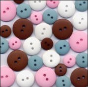 Matte Finish Buttons - Sock Hop