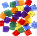 Clear Square Buttons - Primary