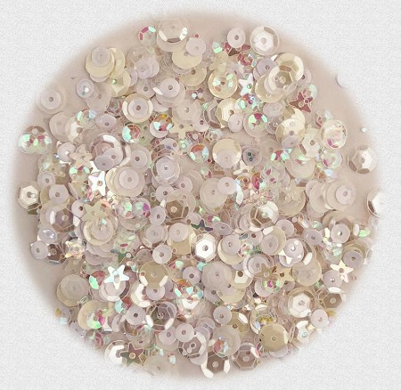 28 Lilac Lane/Buttons Galore - Premium Sequins - Marshmallow