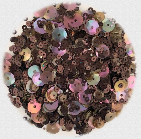 28 Lilac Lane/Buttons Galore - Premium Sequins - Coffee