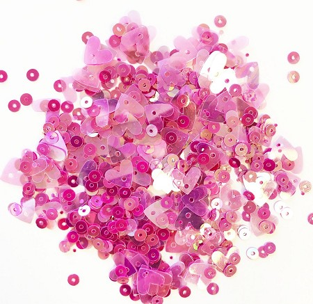 28 Lilac Lane/Buttons Galore - Premium Sequins - Think Pink