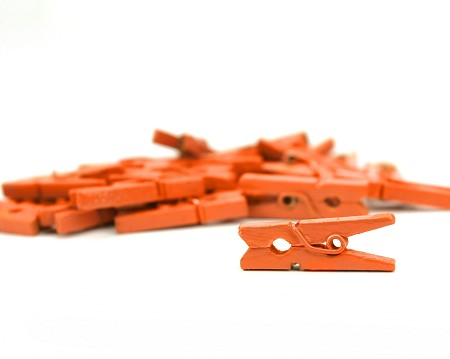 Canvas Corp - Mini Decorative Clothespins - Orange