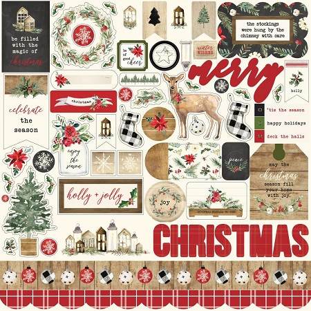 "Carta Bella - Christmas Collection - 12""x12"" Stickers"