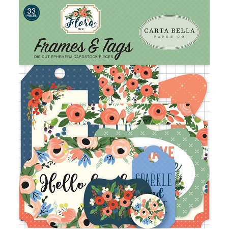 Carta Bella - Flora No. 2 Collection - Die Cut Tags & Frames