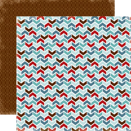 "Carta Bella - All Bundled Up Collection by Alisha Gordon - 12""x12"" cardstock - Chevron"