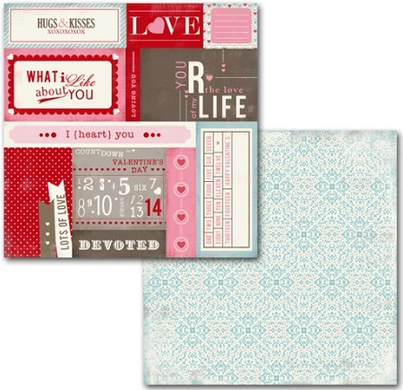"Carta Bella - Devoted Collection by Carina Gardner - 12""x12"" Double Sided Paper - Countdown Cards"