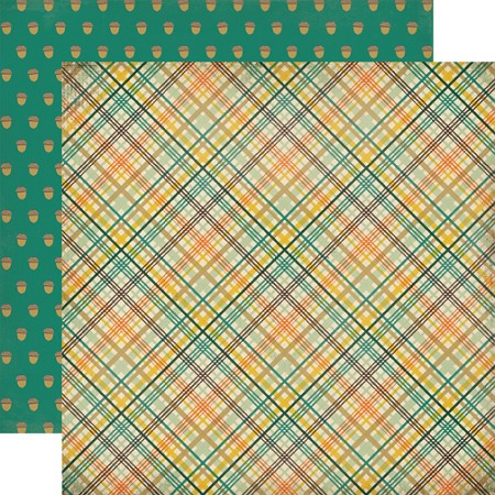 "Carta Bella - Fall Blessings Collection - 12""x12"" cardstock - Fall Plaid"