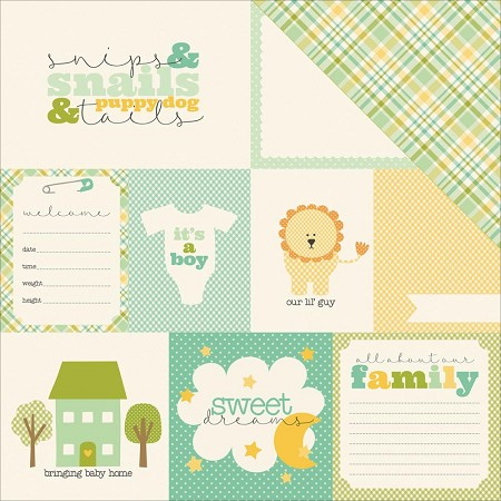 "Carta Bella - It's a Boy Collection - 12""x12"" Cardstock - Journaling Cards"
