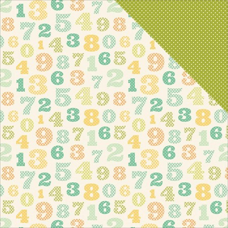 "Carta Bella - It's a Boy Collection - 12""x12"" Cardstock - Counting Numbers"