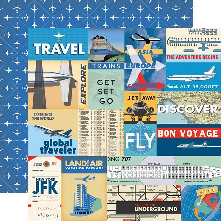 "Carta Bella - Passport Collection - 12""x12"" Cardstock - Multi Journaling Cards"