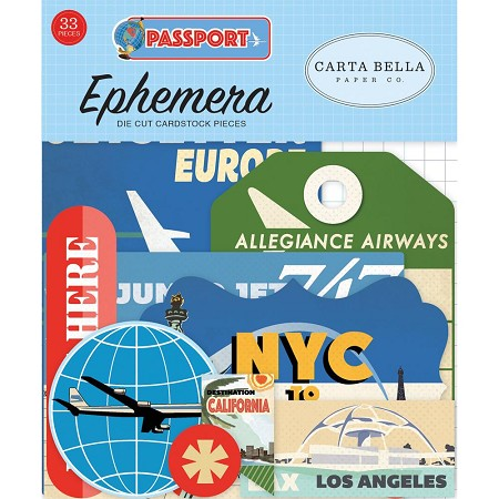 Carta Bella - Passport Collection - Die Cut Ephemera