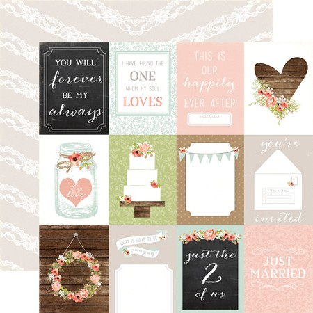 "Carta Bella - Rustic Elegance Collection - 12""x12"" cardstock - 3x4 Journaling Cards"
