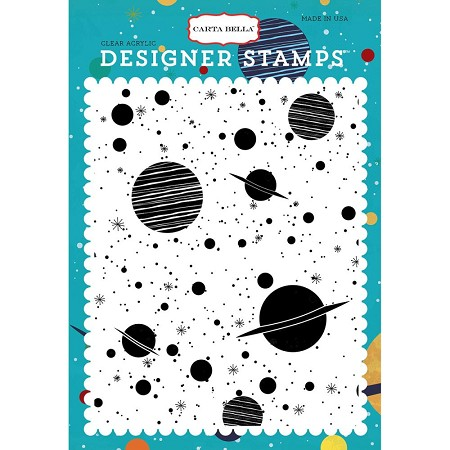 Carta Bella - Space Academy Collection - Space Academy Galaxy Background Clear Stamp