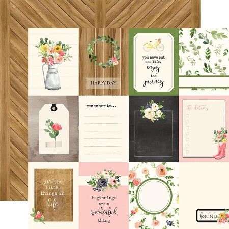 "Carta Bella - Spring Market Collection - 12""x12"" Cardstock - 3""X4"" Journaling Cards"