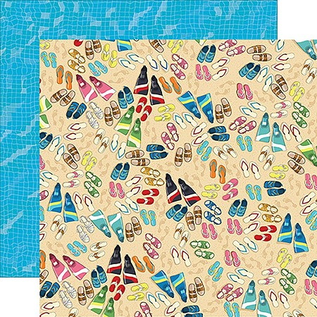 "Carta Bella - Summer Splash Collection - 12""x12"" Cardstock - Toes In The Sand"