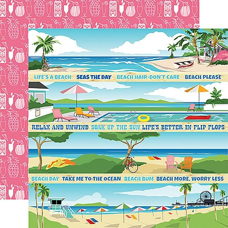 "Carta Bella - Summer Splash Collection - 12""x12"" Cardstock - Border Strips"