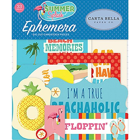 Carta Bella - Summer Splash Collection - Die Cut Ephemera