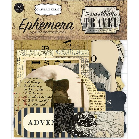 Carta Bella - Transatlantic Travel Collection - Die Cut Ephemera