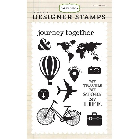 Carta Bella - Travel Stories Collection - Journey Together 4x6 Stamp :)