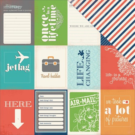 "Carta Bella - Travel Stories Collection - 12""x12"" cardstock - Excursion"