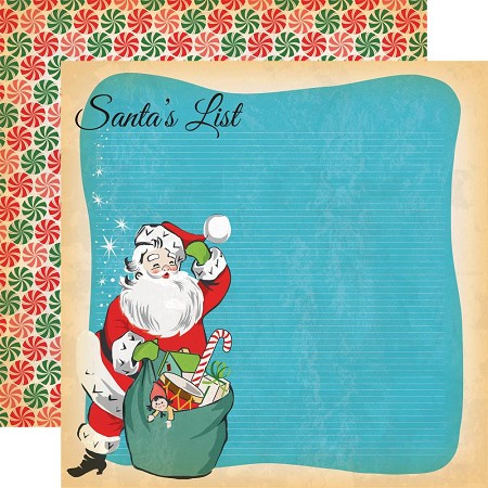 "Carta Bella - A Very Merry Christmas Collection - 12""x12"" Cardstock - Santa's List"