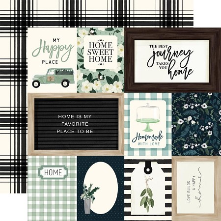 "Carta Bella - Home Again Collection - Journaling Cards 12""x12"" Cardstock"