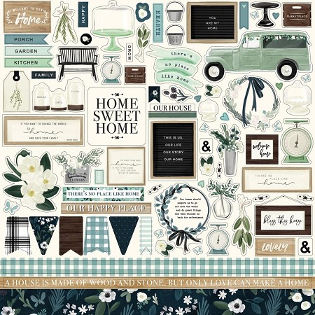 "Carta Bella - Home Again Collection - 12""x12"" Stickers"
