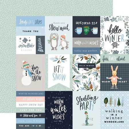 "Carta Bella - Winter Market Collection - 3""X4"" Journaling Cards 12""x12"" Cardstock"