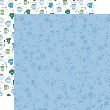 "Carta Bella - Winter Market Collection - Swirly Snowflakes 12""x12"" Cardstock"